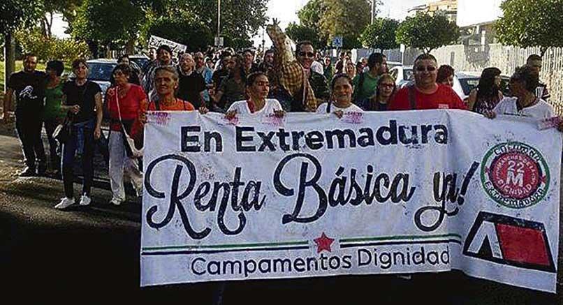 Campamento Dignidad pide una renta básica de emergencia