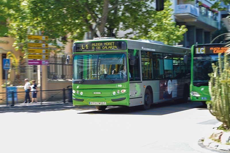 El autobús urbano de Cáceres circulará en su horario habitual a partir del lunes