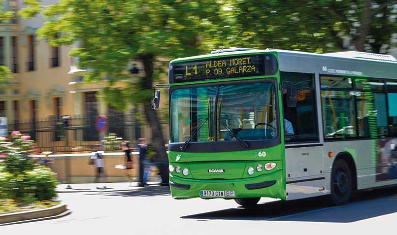 El autobús urbano gratis por seguridad de los conductores y usuarios