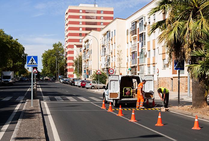 Empieza la campaña anual de asfaltado en Cáceres
