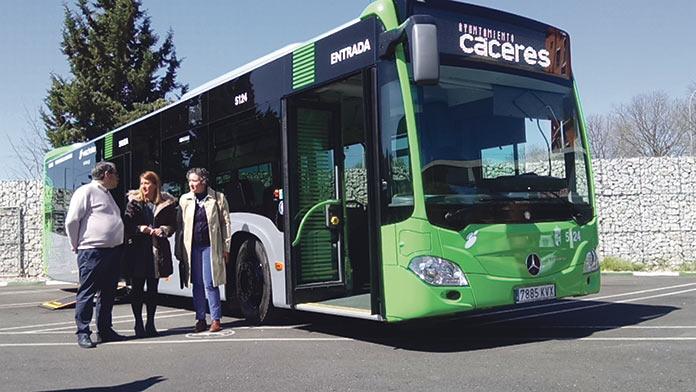 Autobús Urbano Híbrido de Cáceres
