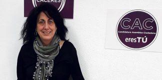 Consuelo López, Podemos Cáceres Tú, elecciones 26M