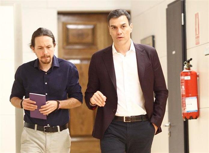 Elecciones perpetuas. Víctor Casco. Pablo Iglesias y Pedro Sánchez.