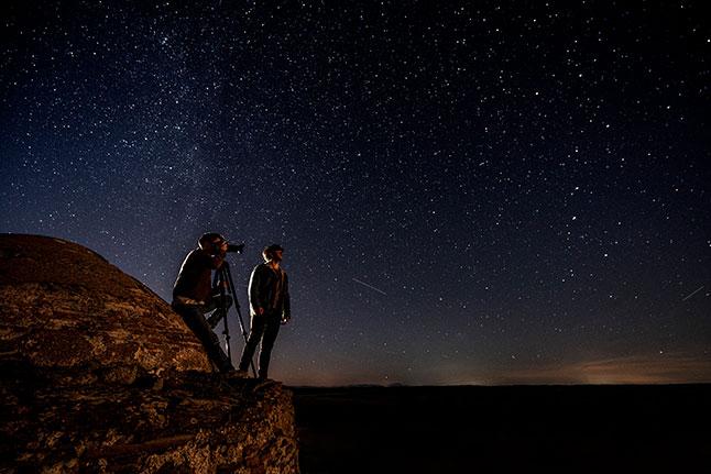 Astroturismo en el Parque Internacional del Tajo Internacional