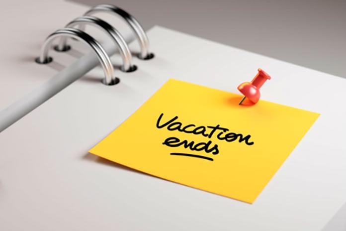 El regreso de vacaciones. Felipe Fernández