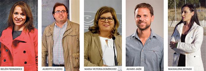 Los cinco candidatos por Cáceres al Congreso el 10N