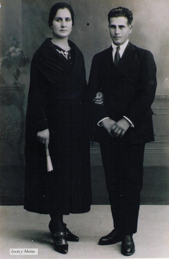 Matias Escalera González y Lucía García