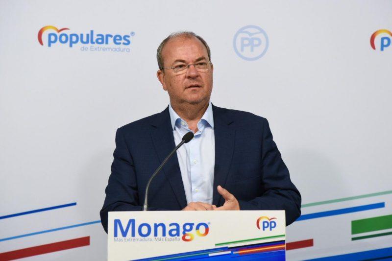 Monago pide a la Junta de Extremadura la realización de test masivos
