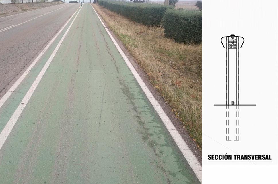 Una barrera de seguridad para el carril bici de Sierra de Fuentes