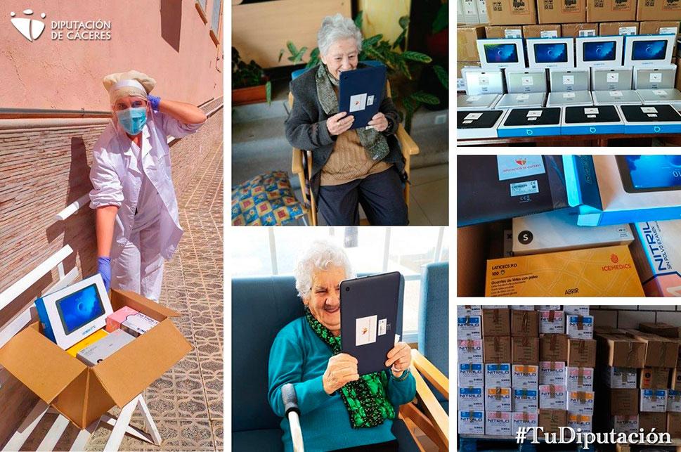 Los ayuntamientos reciben los EPIs y tablets destinados a las residencias de mayores