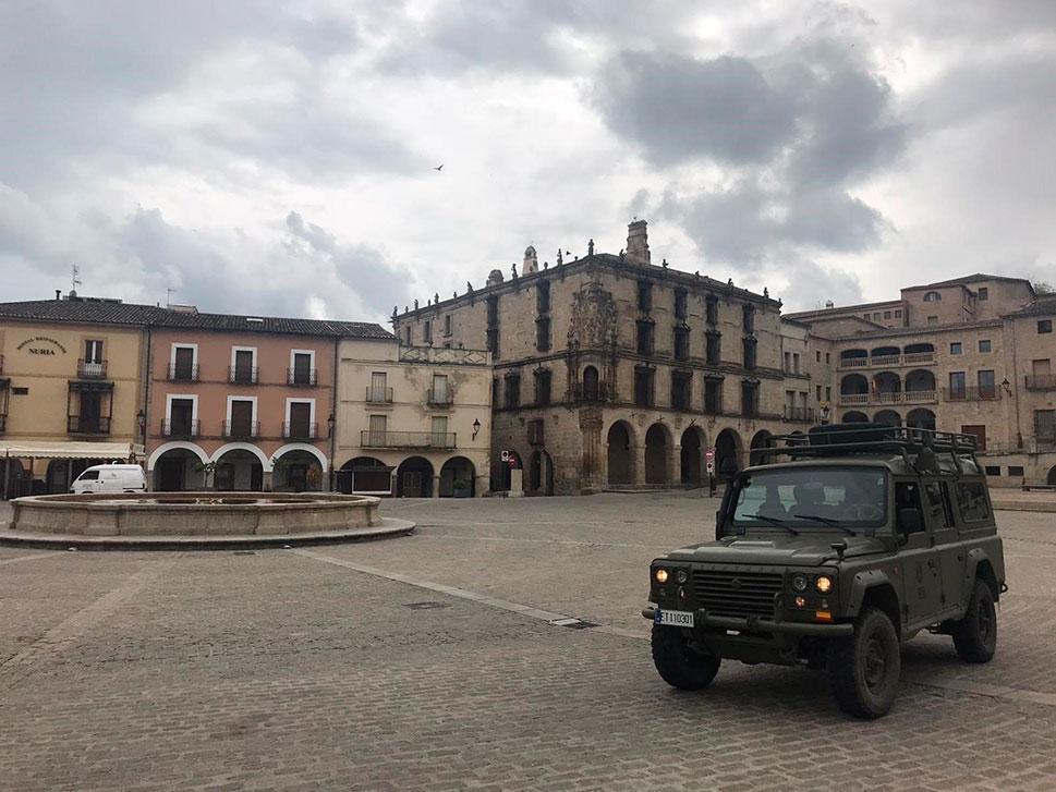 Despliegue de la 'Operación Balmis' en las principales ciudades de Cáceres y Badajoz