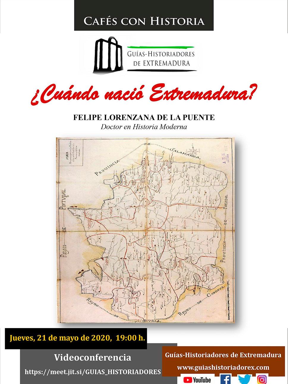 Charlas online sobre la historia de Extremadura