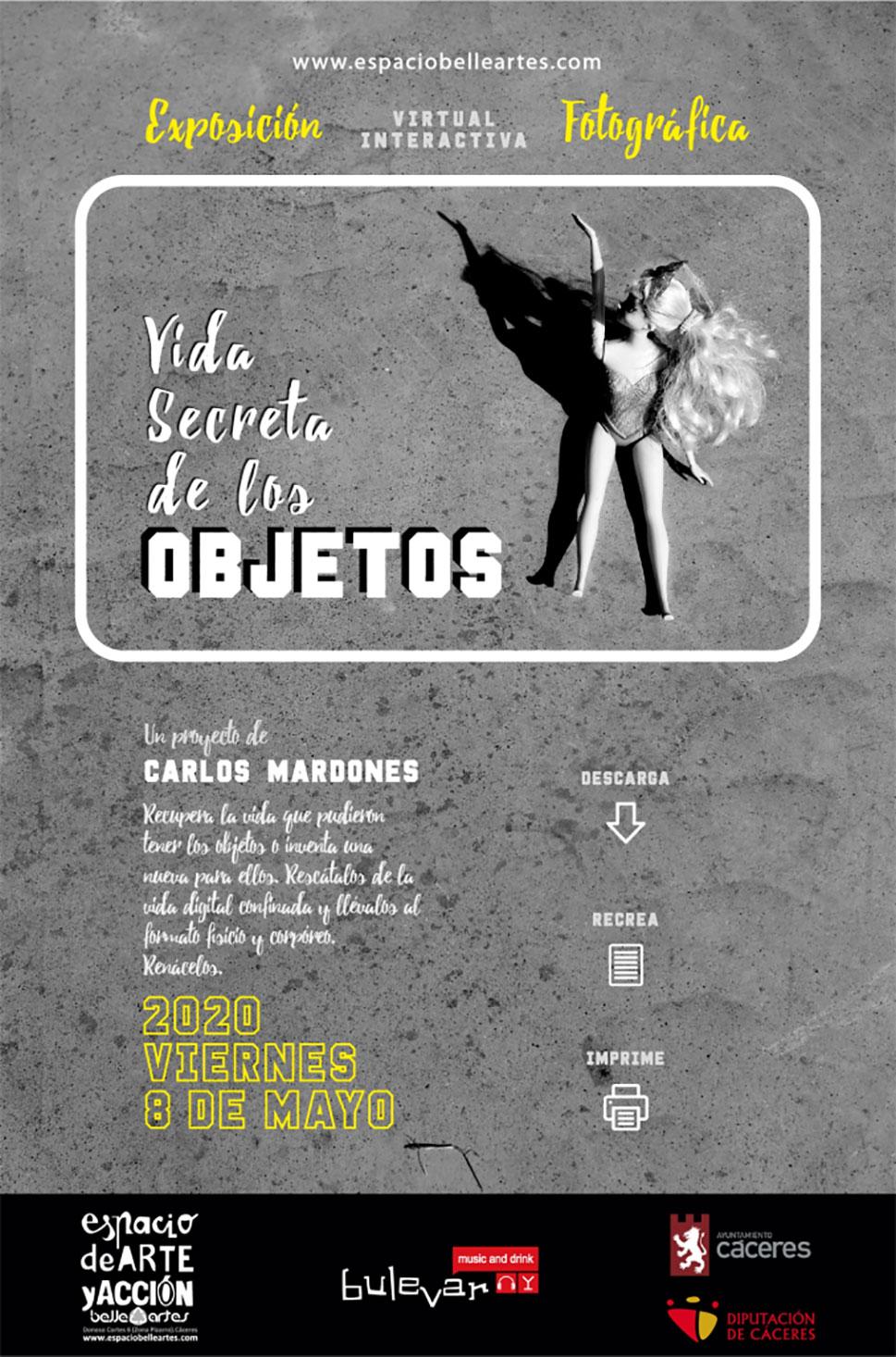Carlos Mardones presenta la exposición virtual Vida secreta de los objetos
