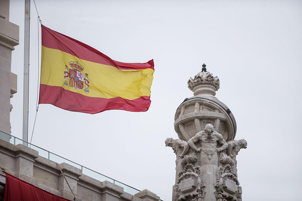 Las banderas las sedes judiciales de Extremadura ondean a media asta