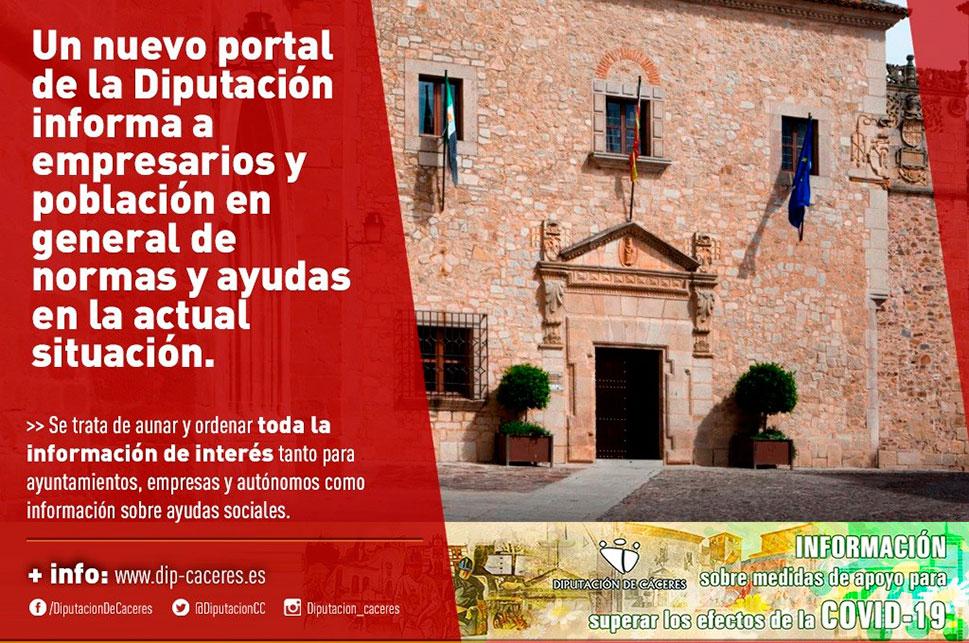Un nuevo portal de la Diputación informa a la ciudadanía y a los empresarios sobre ayudas