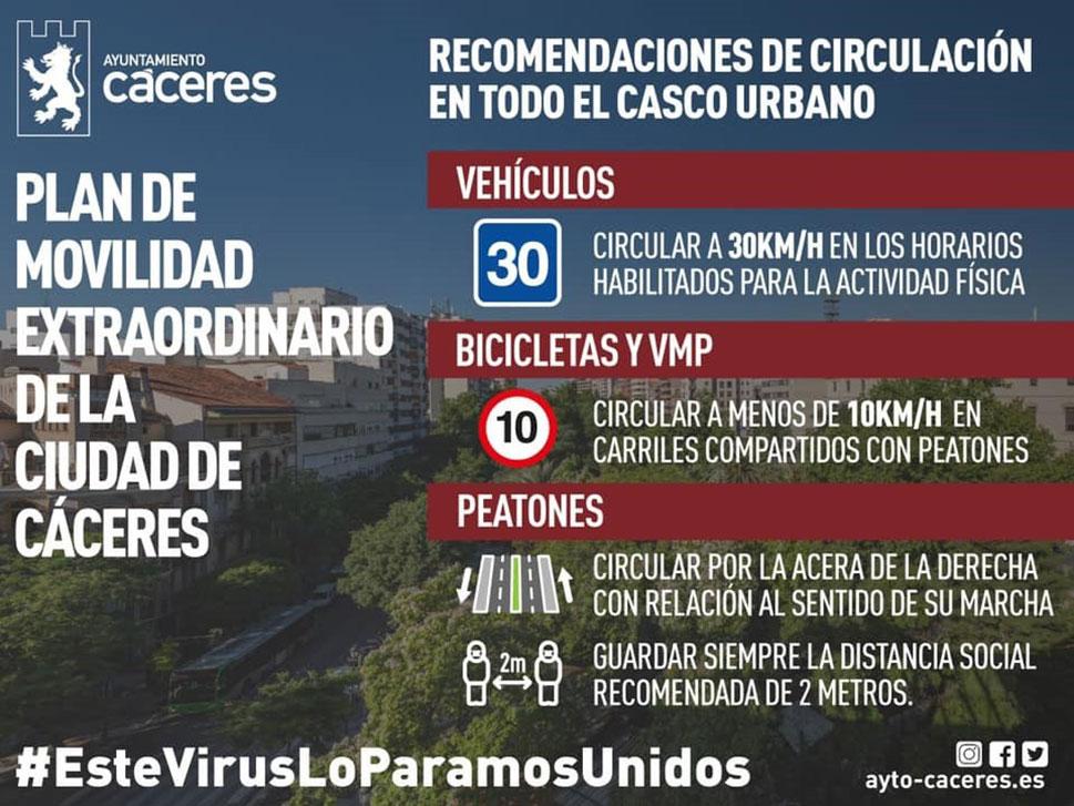 Cáceres comienza la señalización de los corredores urbanos