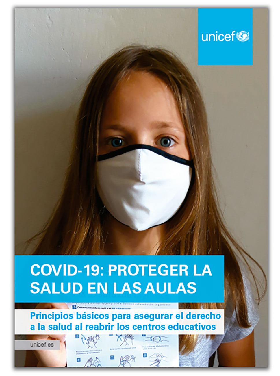 UNICEF considera prioritaria la vuelta a las aulas, pero siempre que se cumplan todas las garantías sanitarias