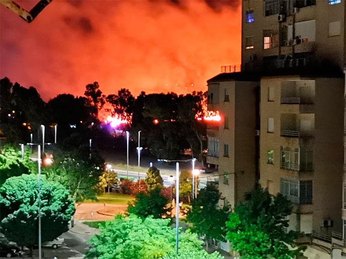 La Guardia Civil investiga si el incendio del Cerro de los Pinos fue intencionado
