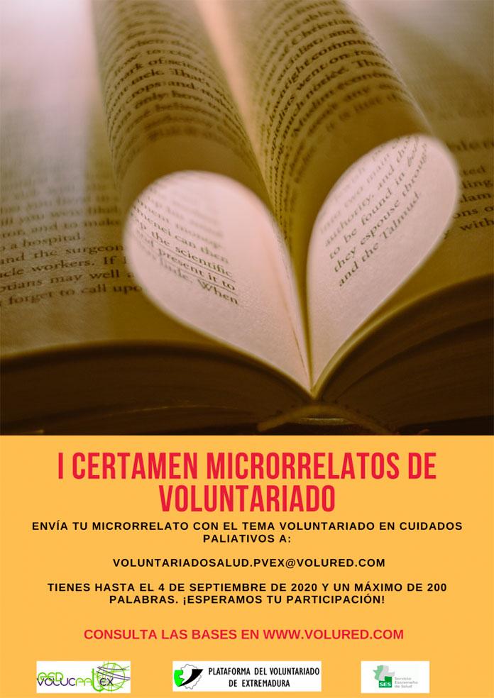 La Plataforma del Voluntariado de Extremadura convoca un certamen literario de microrrelatos