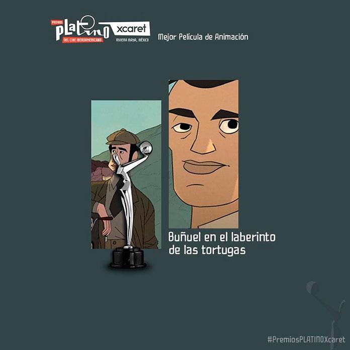 Buñuel en el laberinto de las tortugas. ganador del Premio Platino a la Mejor Película de Animación