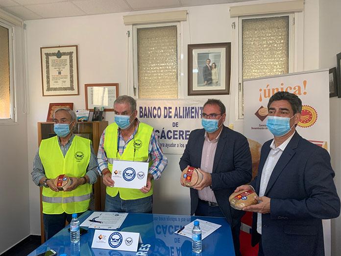 La DOP Torta del Casar donará 12.000 euros al Banco de Alimentos de Cáceres