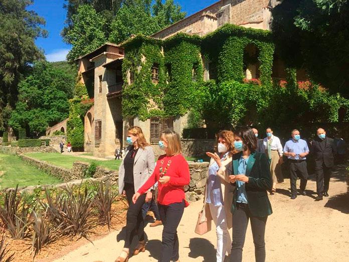 El Real Monasterio de Yuste brilla con su nuevo Jardín del Mirador