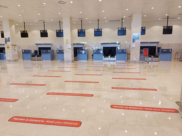 El aeropuerto de Badajoz se adapta a la nueva normalidad
