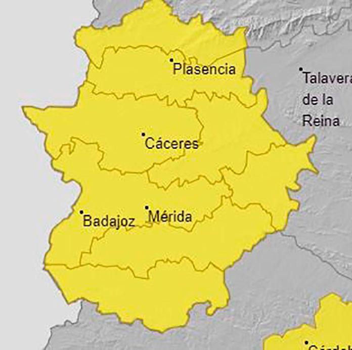 Alerta amarilla en Extremadura por altas temperaturas