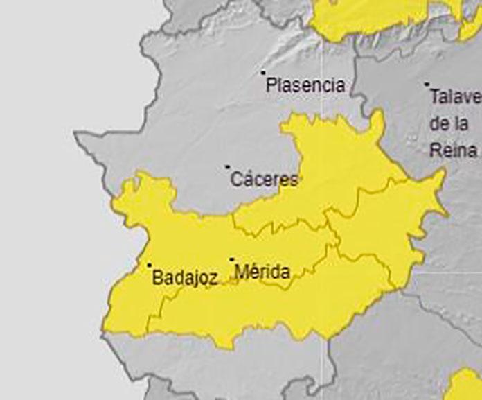 Alerta amarilla por calor en el centro de Extremadura