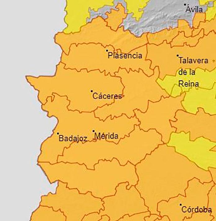 Alerta naranja en Extremadura por altas temperaturas