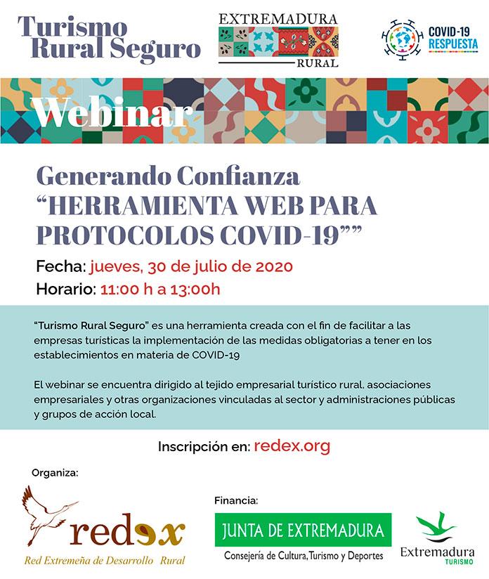 REDEX presenta la web Turismo Rural Seguro en un webinar dirigido al sector turístico