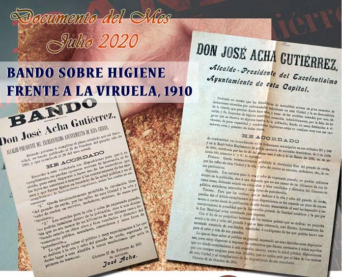 El Palacio de la Isla de Cáceres expone un bando para proteger a la población de la viruela