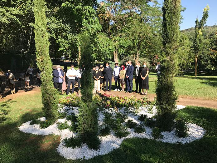 Cáceres inaugura el Jardín de la memoria en el Parque del Príncipe