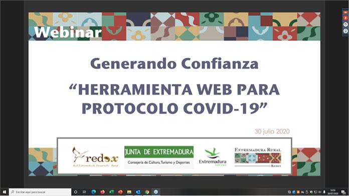 La presentación de la web de REDEX Turismo Rural Seguro reúne a más de 180 profesionales del sector turístico