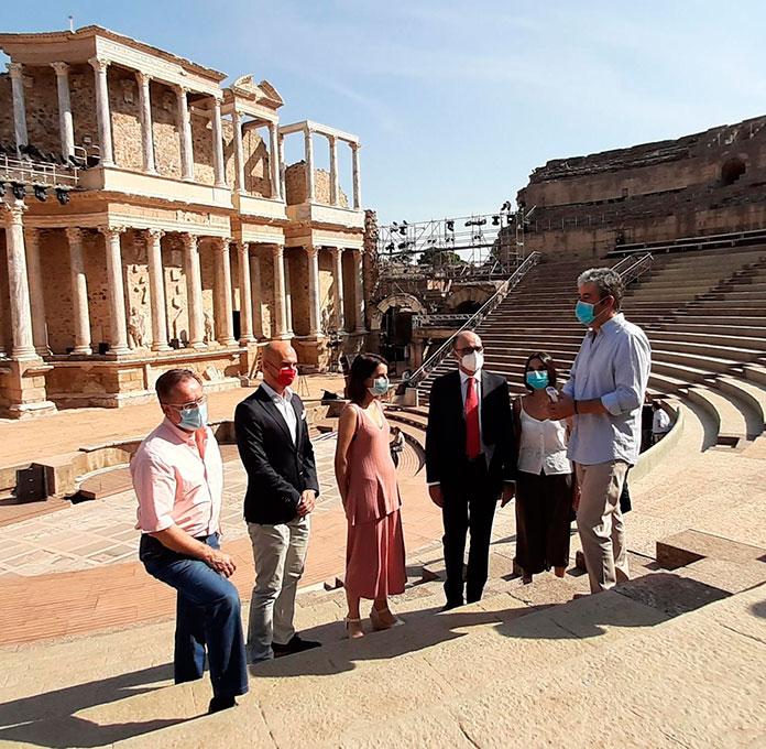 El Teatro Romano de Mérida estrena gradas y fachada