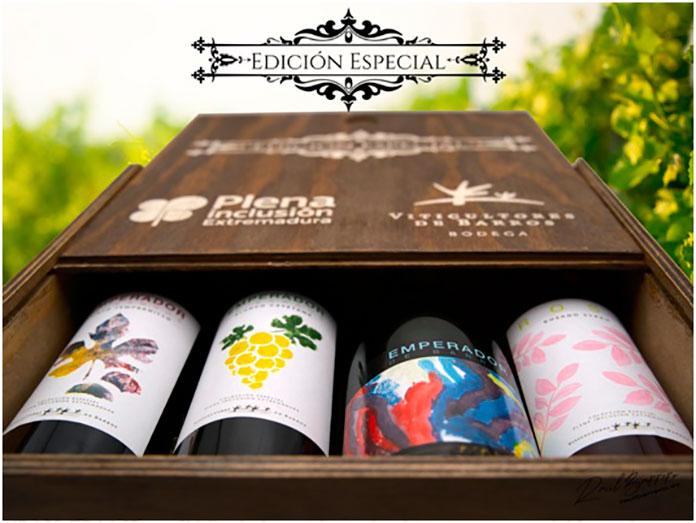 Personas con discapacidad diseñan las etiquetas de los vinos de Viticultores de Barros