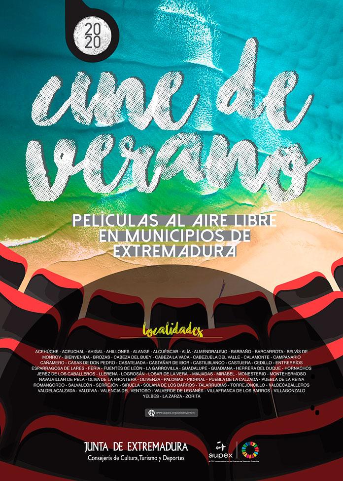 El cine de verano de Aupex llega a 74 pueblos de Extremadura