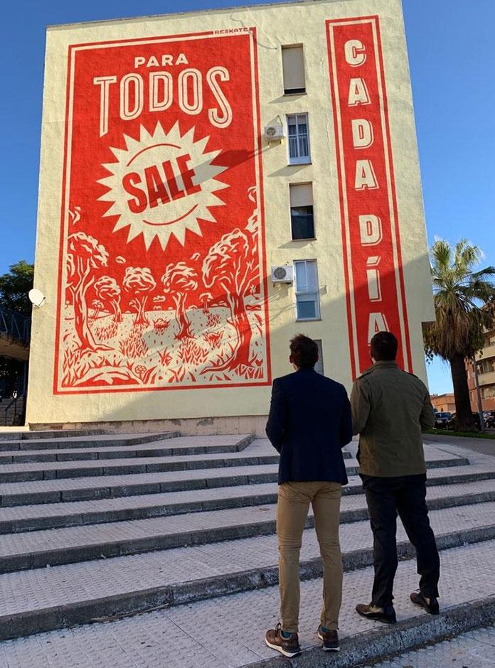Aldea Moret saca a relucir su Sol en Murales con Objetivos