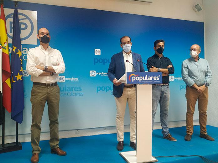 El PP de Cáceres afirma que las ayudas a las pymes solo llegarán al 15% de las solicitudes
