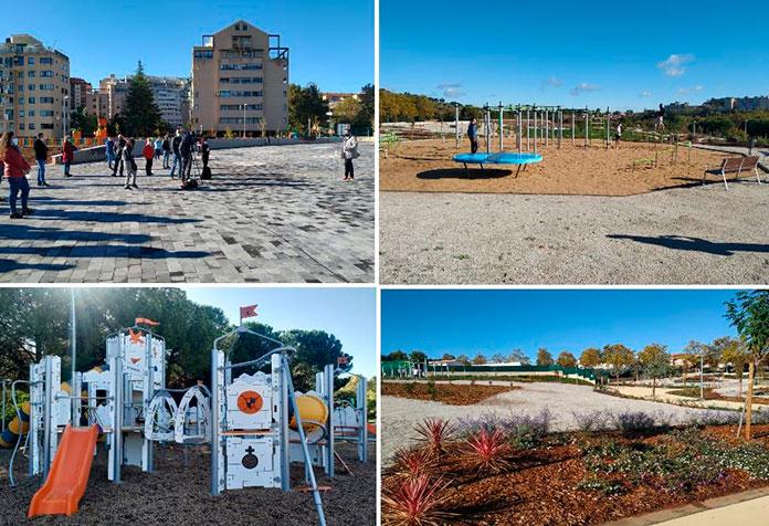 Cáceres inaugura la ampliación del Parque del Príncipe
