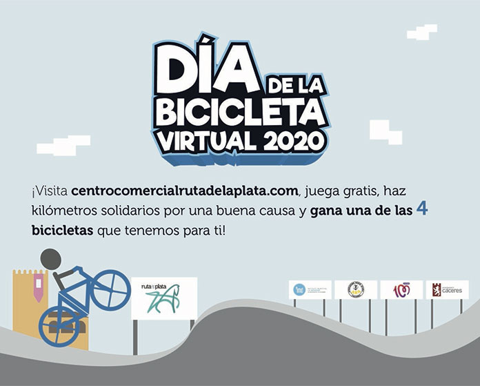 Un Día de la Bicicleta de Cáceres virtual a favor de ARA