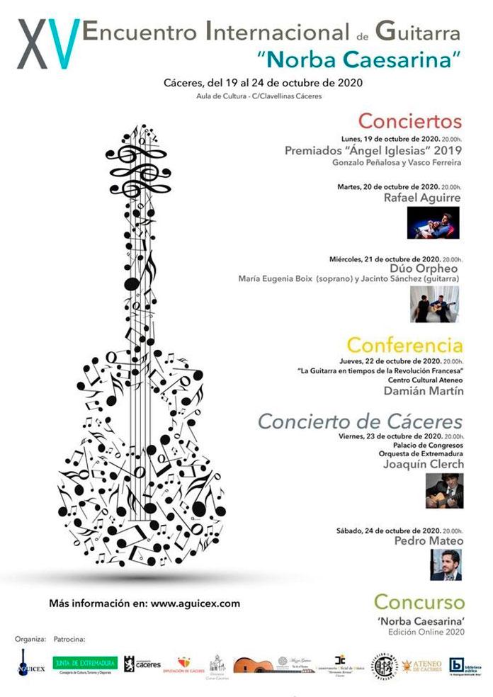 Arranca el XV Encuentro Internacional de Guitarra Norba Caesarina