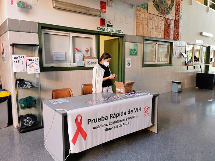 Pruebas de VIH gratuitas en el Campus de Cáceres