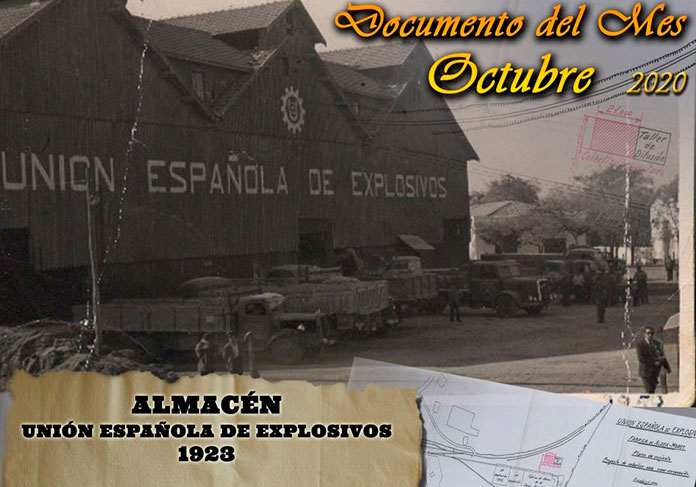 Los planos del edificio de la Unión Española de Explosivos, documento del mes