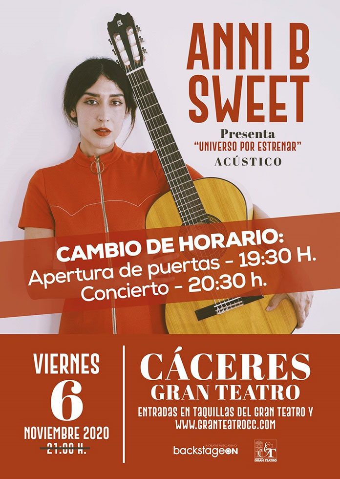 Anni B Sweet presenta su nuevo disco en el Gran Teatro de Cáceres