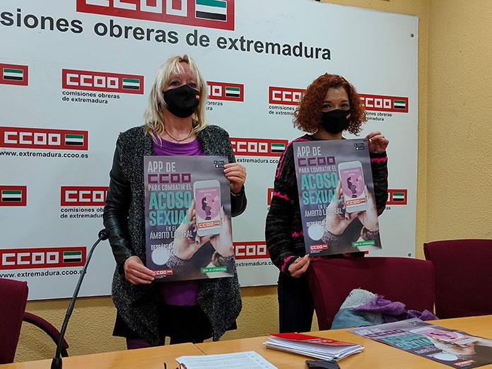 CCOO Extremadura presenta una app para denunciar el acoso sexual en el trabajo