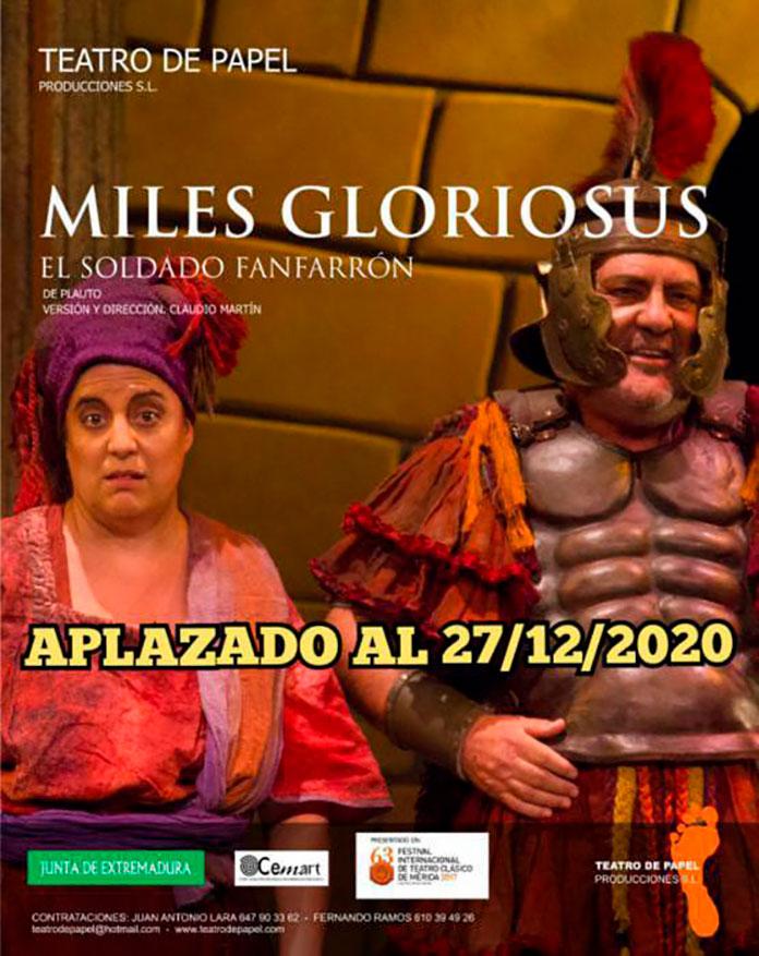 'Miles gloriousus' aplazado para el 27 de diciembre en el Gran Teatro