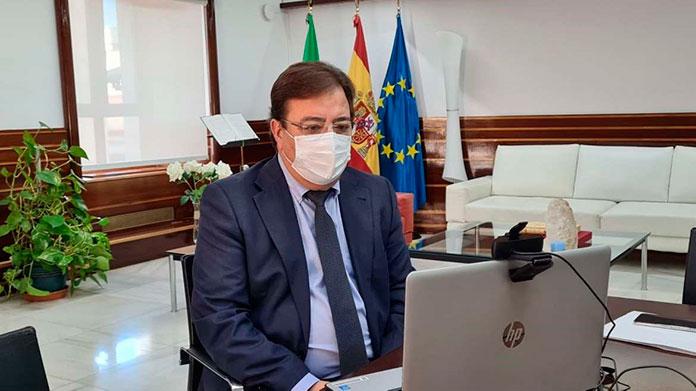 Vara destaca el potencial del litio en Extremadura en el encuentro con embajadores de la UE