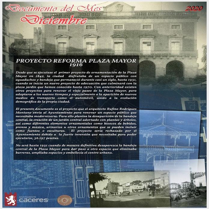 La reforma de la Plaza Mayor de 1916, Documento del Mes