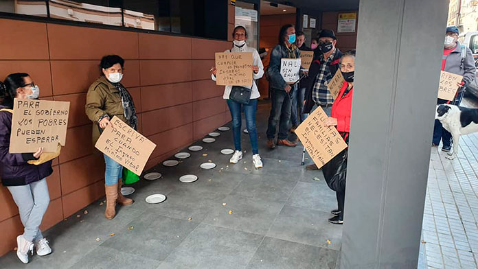 Campamento Dignidad y Mérida Solidaria pide una reunión con responsables de la Seguridad Social